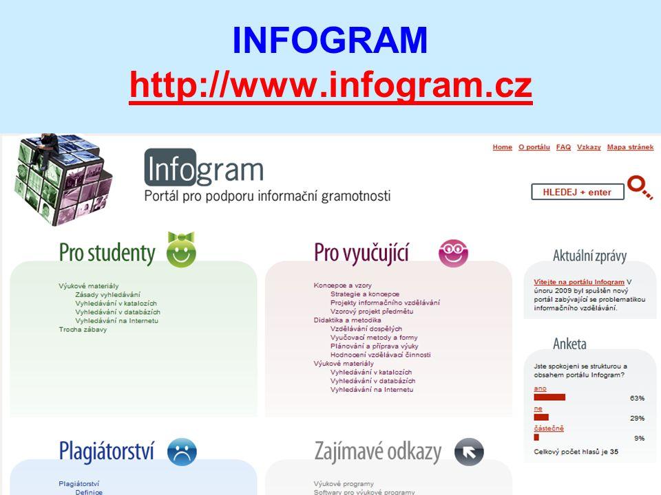INFOGRAM http://www.infogram.cz http://www.infogram.cz