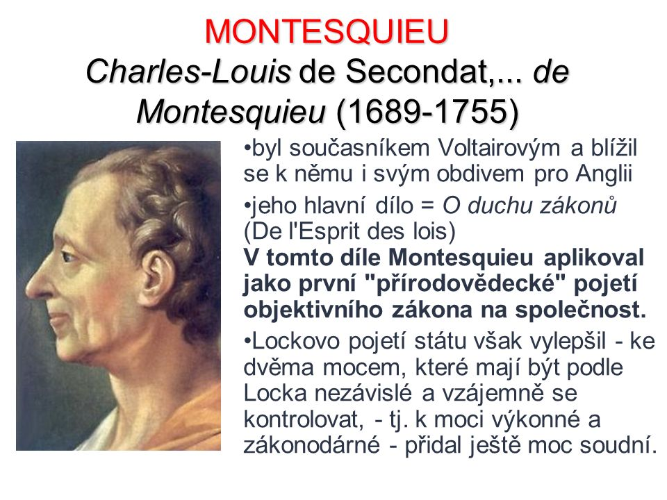 MONTESQUIEU Charles-Louis de Secondat,...