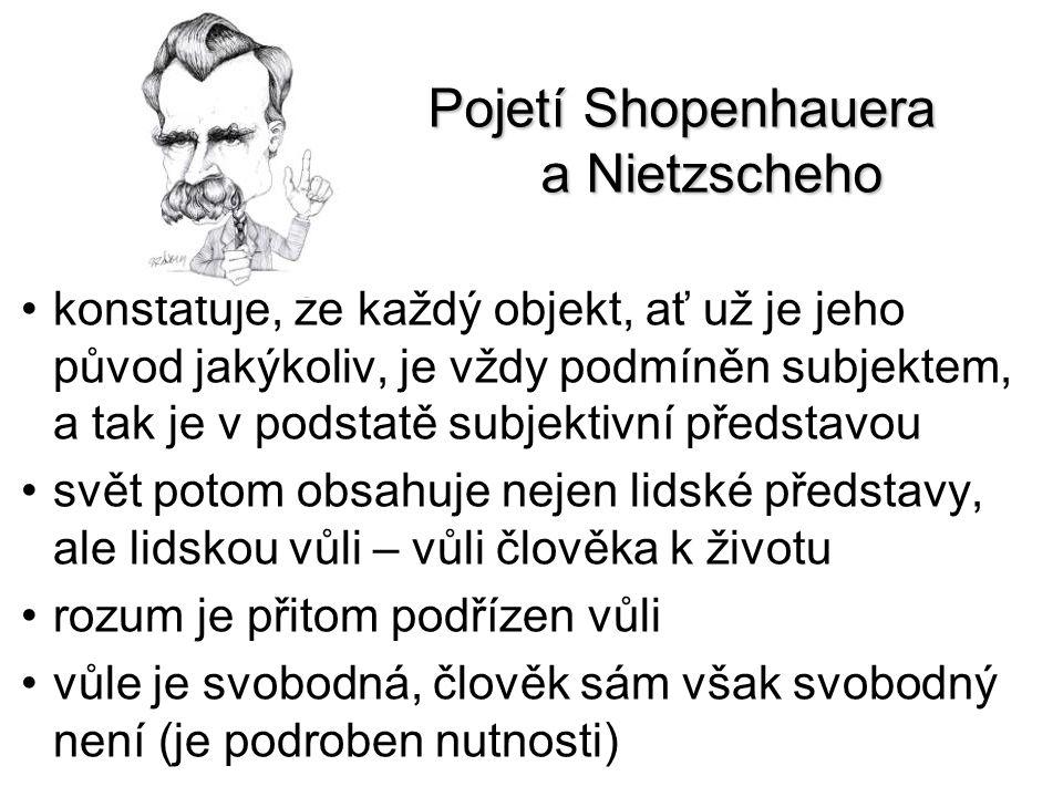 Pojetí Shopenhauera a Nietzscheho konstatuje, že každý objekt, ať už je jeho původ jakýkoliv, je vždy podmíněn subjektem, a tak je v podstatě subjekti