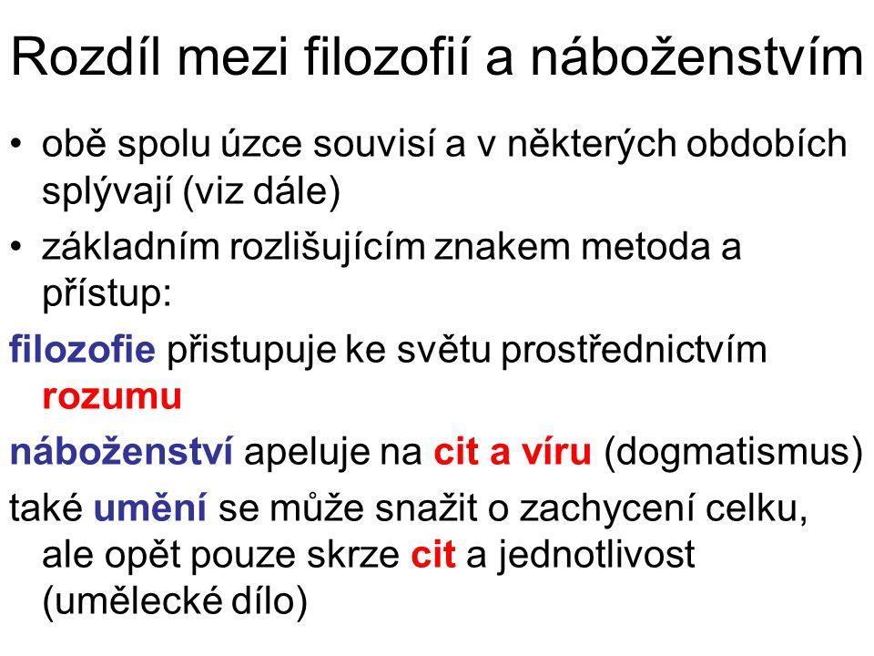 ČLOVĚK JAKO FILOZOFICKÝ PROBLÉM k zákl.fil.