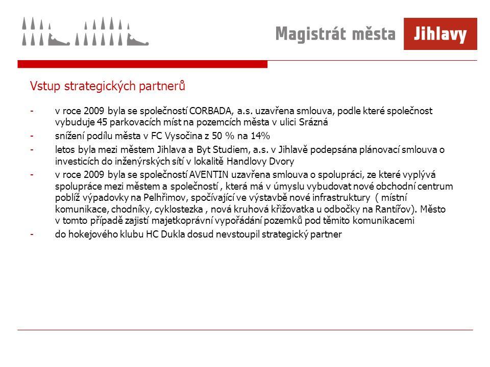 Vstup strategických partnerů -v roce 2009 byla se společností CORBADA, a.s.