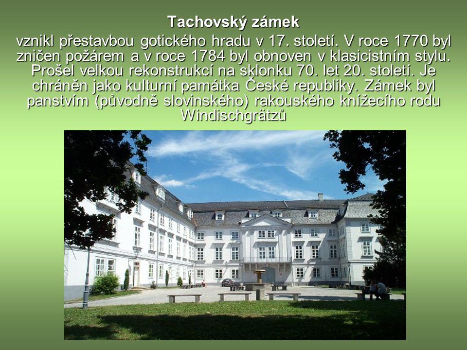 Tachovský zámek vznikl přestavbou gotického hradu v 17.
