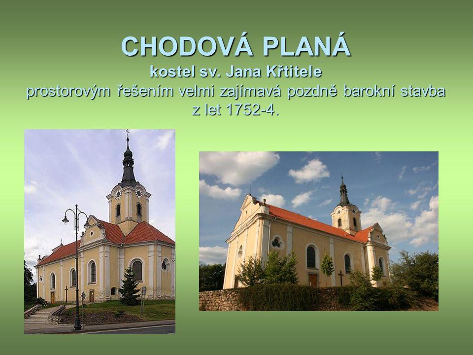 CHODOVÁ PLANÁ kostel sv.