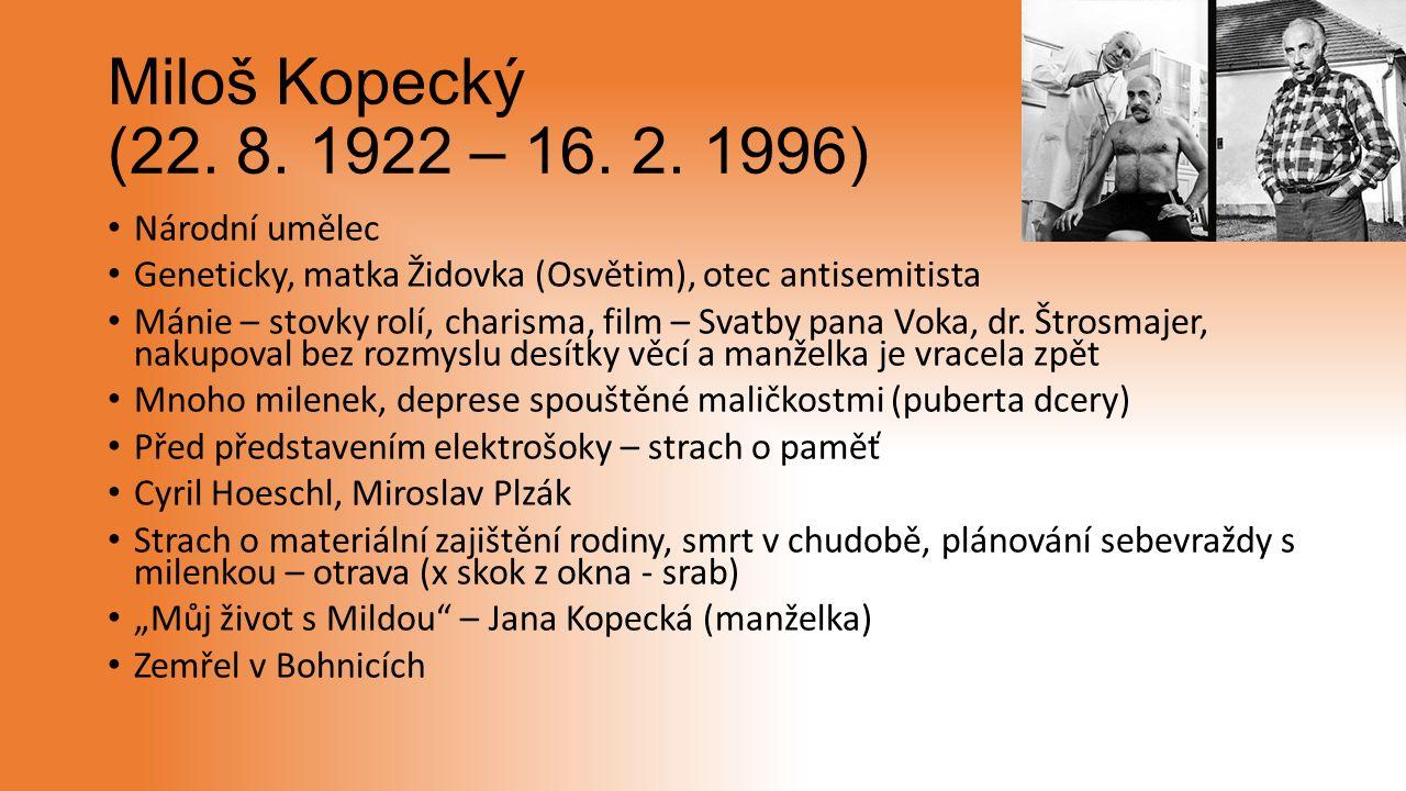Miloš Kopecký (22. 8. 1922 – 16. 2.