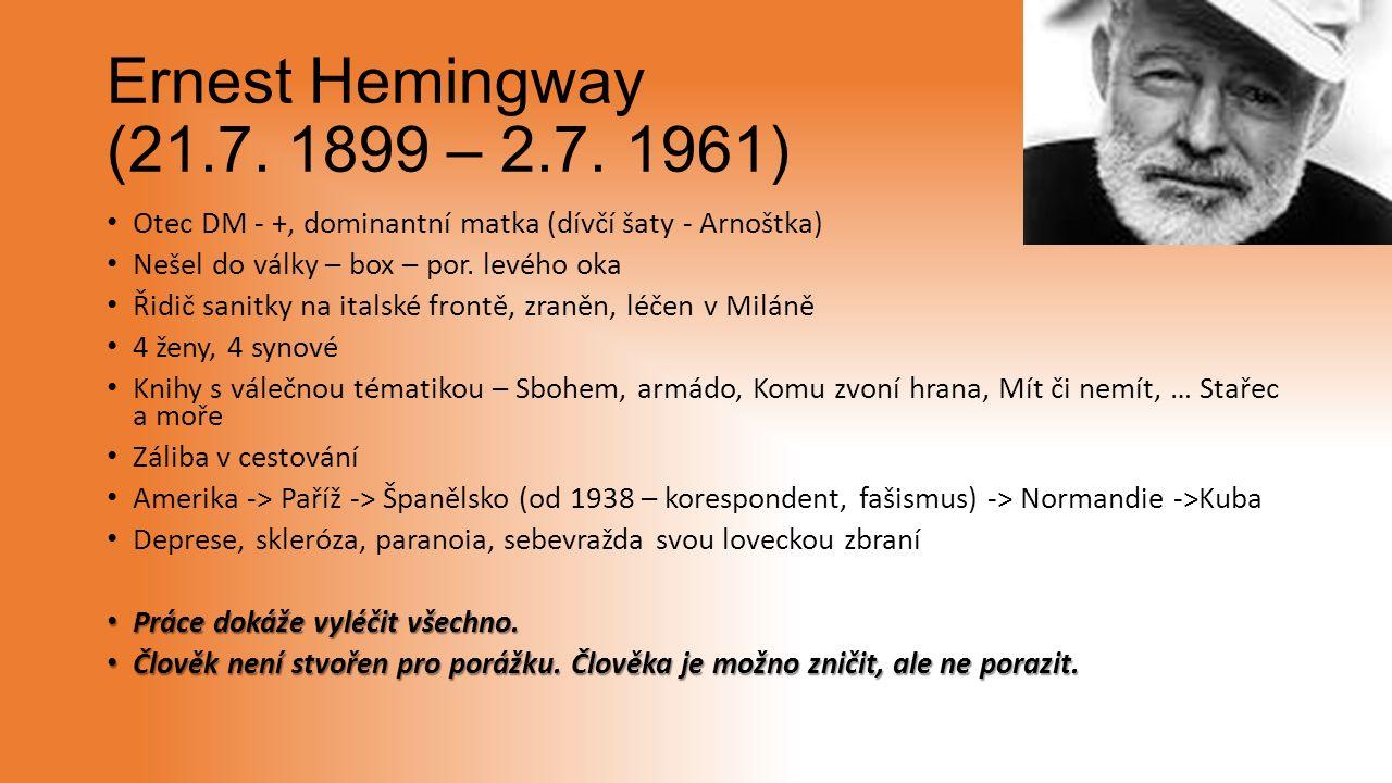 Ernest Hemingway (21.7. 1899 – 2.7.