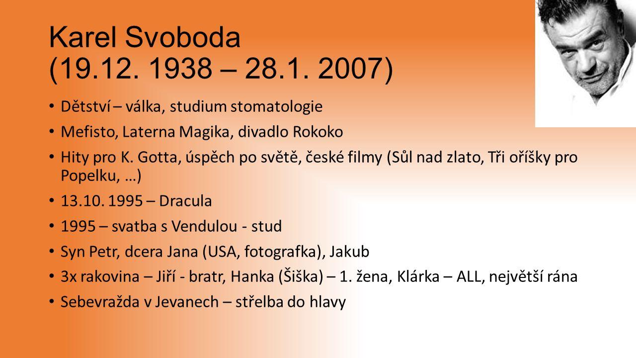 Karel Svoboda (19.12. 1938 – 28.1.