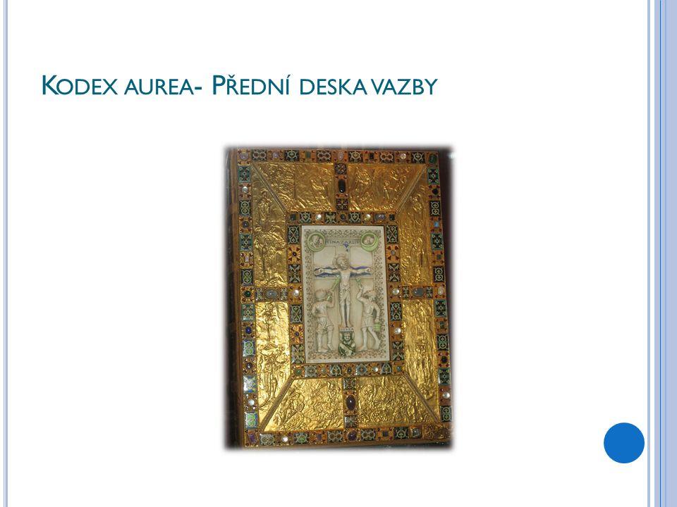 K ODEX AUREA - P ŘEDNÍ DESKA VAZBY
