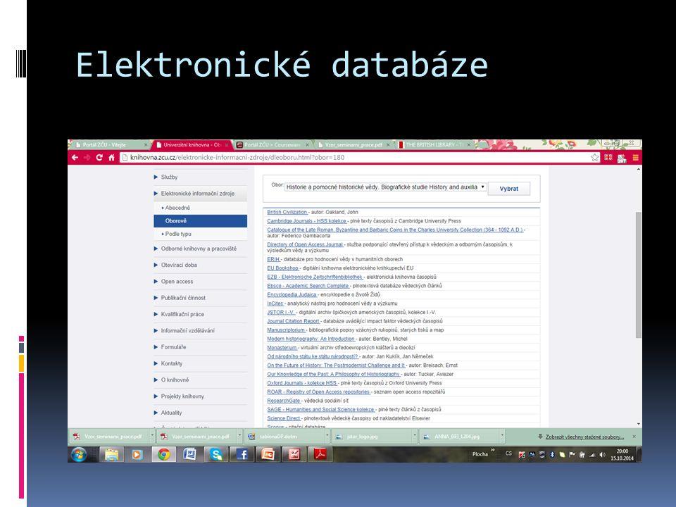 Elektronické databáze