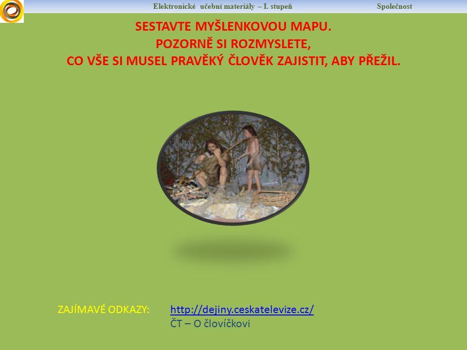 Elektronické učební materiály – I. stupeň Společnost SESTAVTE MYŠLENKOVOU MAPU.