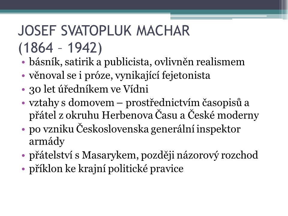 JOSEF SVATOPLUK MACHAR - DÍLO Confiteor I.– III.