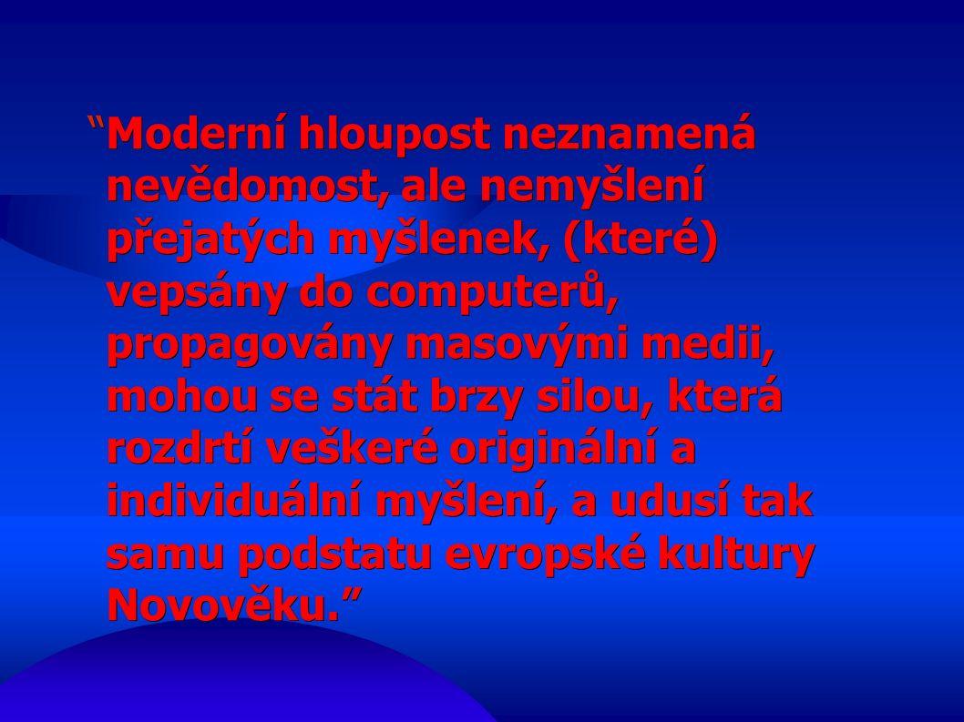 ● Že bych dovolil, aby někdo překládal moje francouzsky psané knihy do češtiny, je naprosto vyloučeno.