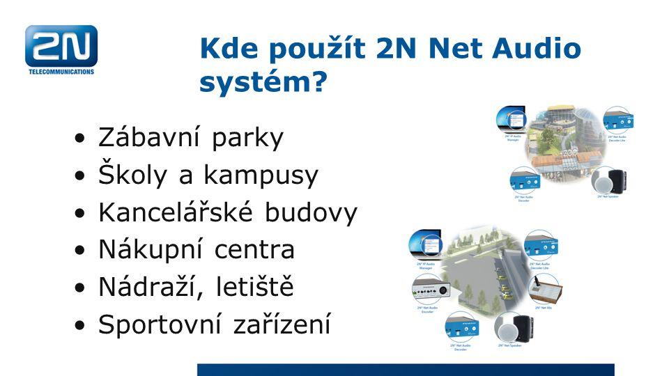 Kde použít 2N Net Audio systém.