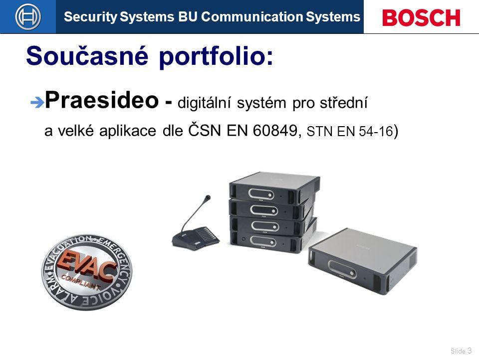Security Systems BU Communication Systems Slide 14 Dohlížecí systém 2 kabely Tradiční způsob 1 kabel !!.