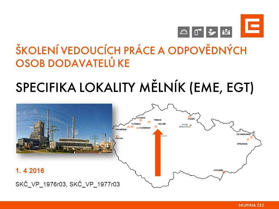 SPECIFIKA LOKALITY MĚLNÍK OBSAH PREZENTACE 1.