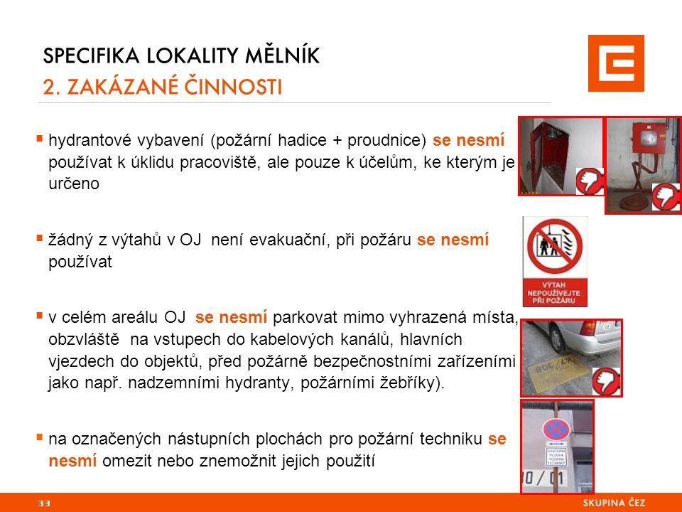 33 SPECIFIKA LOKALITY MĚLNÍK 2.