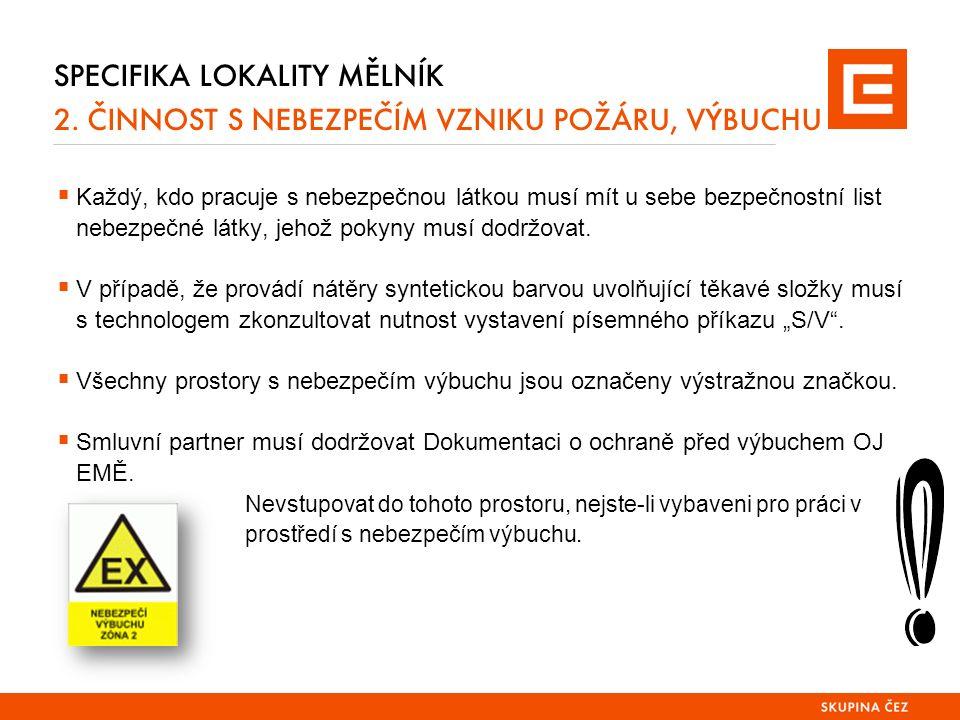 SPECIFIKA LOKALITY MĚLNÍK 2.