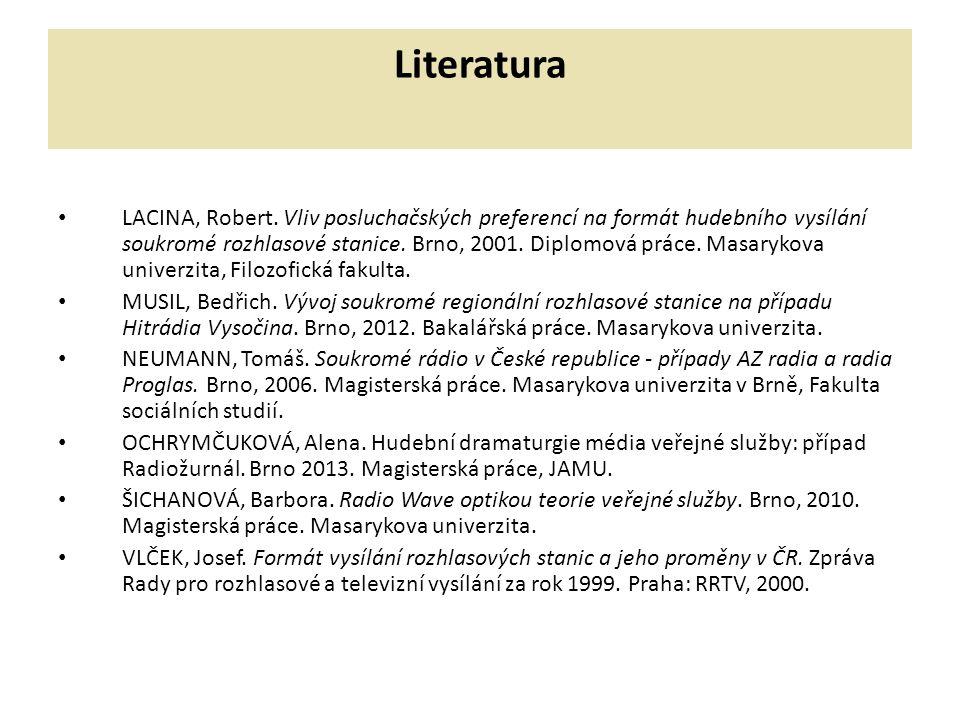 Literatura LACINA, Robert.