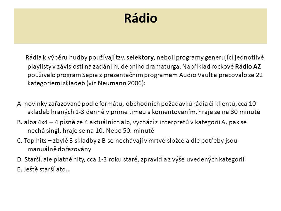 Rádio Rádia k výběru hudby používají tzv.