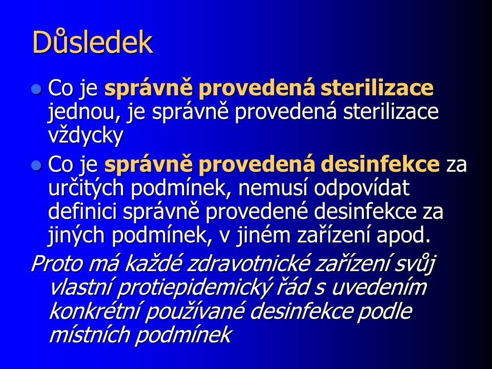 Důsledek Co je správně provedená sterilizace jednou, je správně provedená sterilizace vždycky Co je správně provedená sterilizace jednou, je správně p