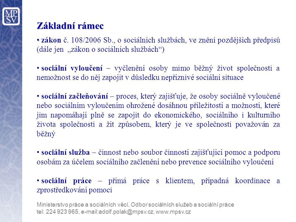 Základní rámec zákon č.