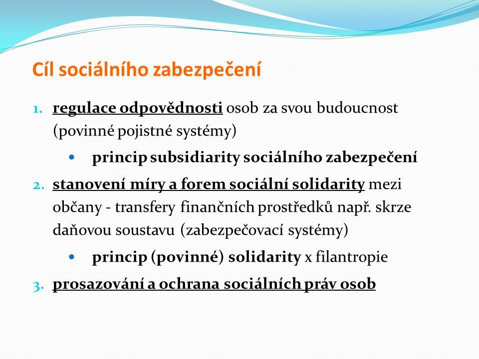 Cíl sociálního zabezpečení 1.