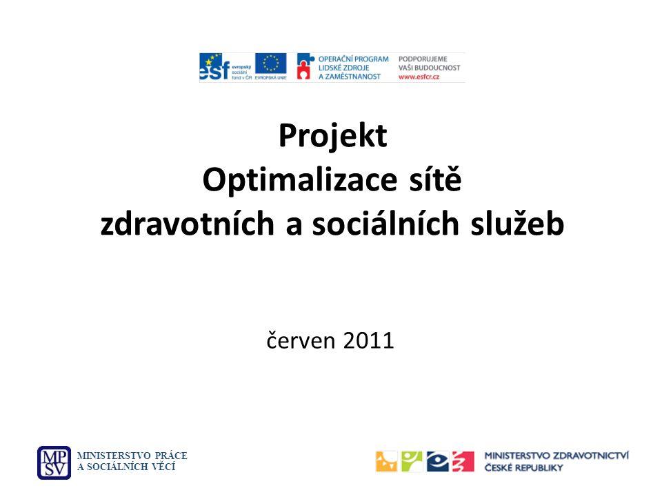 Projekt Optimalizace sítě zdravotních a sociálních služeb MINISTERSTVO PRÁCE A SOCIÁLNÍCH VĚCÍ červen 2011