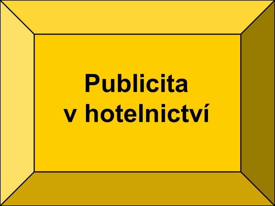 Publicita v hotelnictví