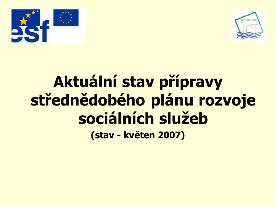 Aktuální stav přípravy střednědobého plánu rozvoje sociálních služeb (stav - květen 2007)
