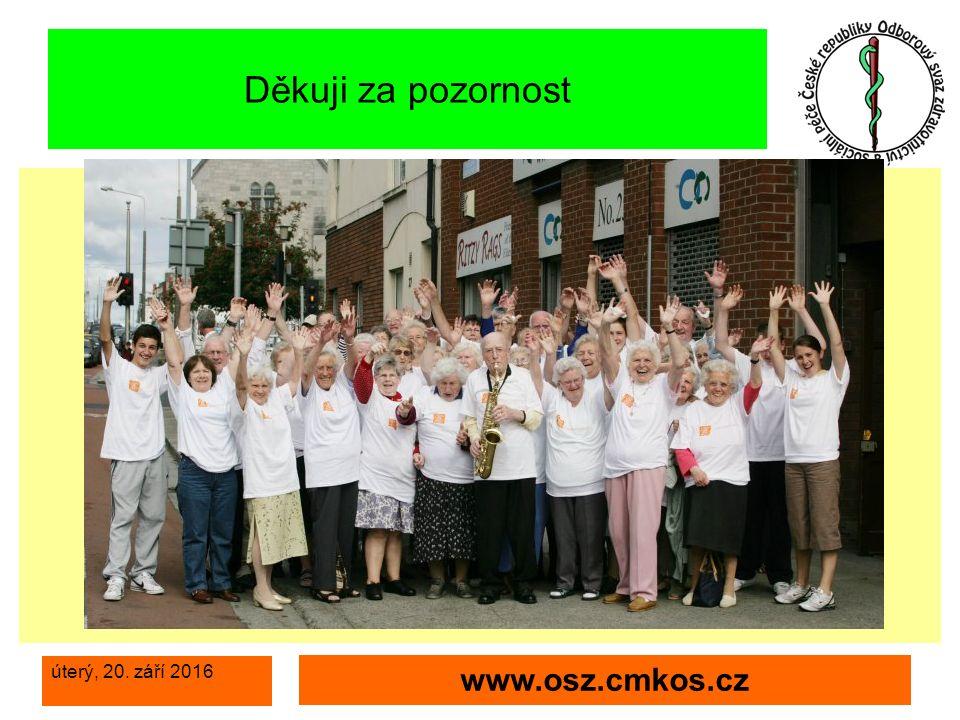 úterý, 20. září 2016 www.osz.cmkos.cz Děkuji za pozornost