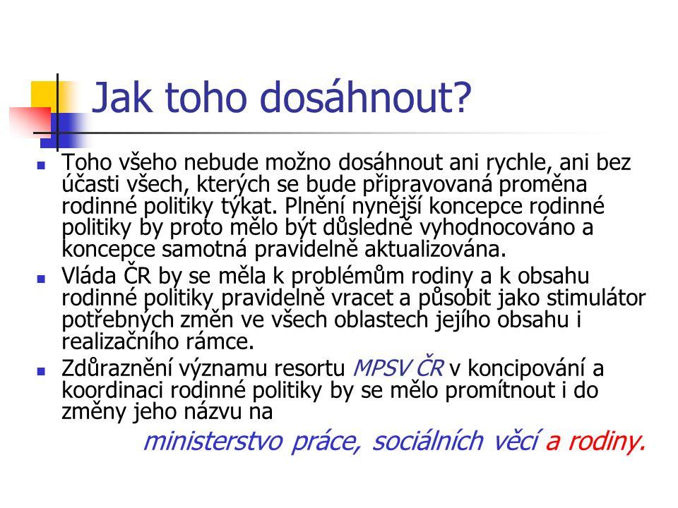 Reference Národní koncepce rodinné politiky.Praha, MPSV ČR 2005.