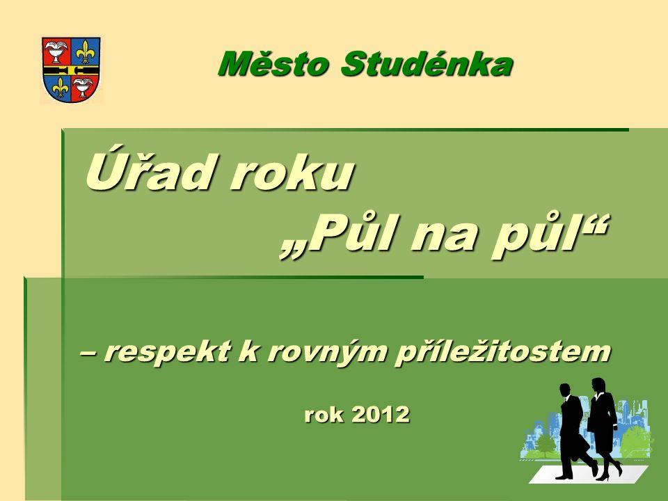 """Úřad roku """"Půl na půl"""" – respekt k rovným příležitostem Město Studénka rok 2012"""