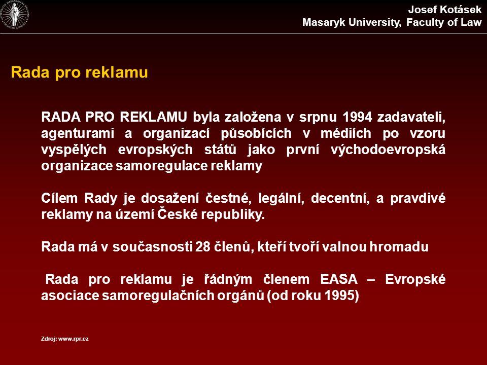 Rada pro reklamu RADA PRO REKLAMU byla založena v srpnu 1994 zadavateli, agenturami a organizací působících v médiích po vzoru vyspělých evropských st