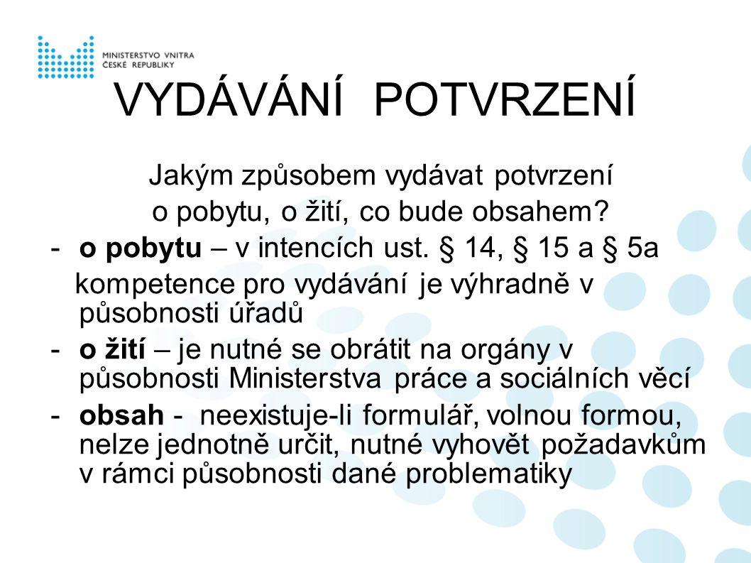 ADRESA PRO DORUČOVÁNÍ s účinností od 1.7.2009 - § 10b z.č.