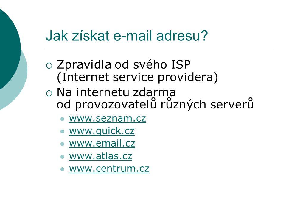 Jak získat e-mail adresu.