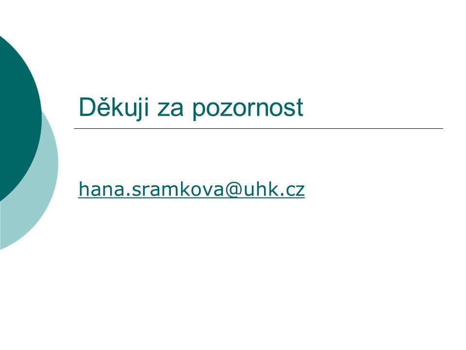 Děkuji za pozornost hana.sramkova@uhk.cz