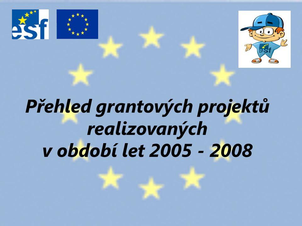 Přehled grantových projektů realizovaných v období let 2005 - 2008