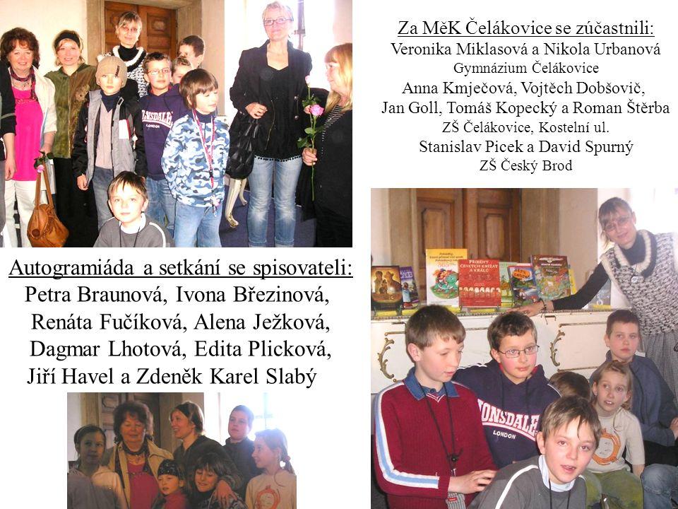 Za MěK Čelákovice se zúčastnili: Veronika Miklasová a Nikola Urbanová Gymnázium Čelákovice Anna Kmječová, Vojtěch Dobšovič, Jan Goll, Tomáš Kopecký a Roman Štěrba ZŠ Čelákovice, Kostelní ul.