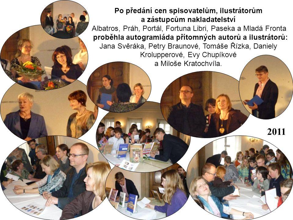 Po předání cen spisovatelům, ilustrátorům a zástupcům nakladatelství Albatros, Práh, Portál, Fortuna Libri, Paseka a Mladá Fronta proběhla autogramiád