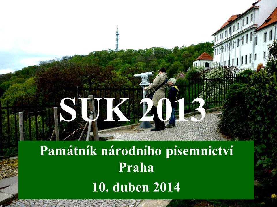 SUK 2013 Památník národního písemnictví Praha 10. duben 2014