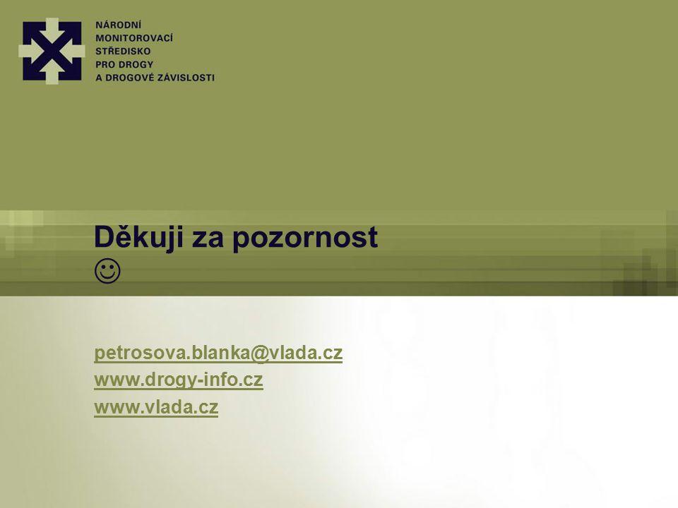 Děkuji za pozornost petrosova.blanka@vlada.cz www.drogy-info.cz www.vlada.cz