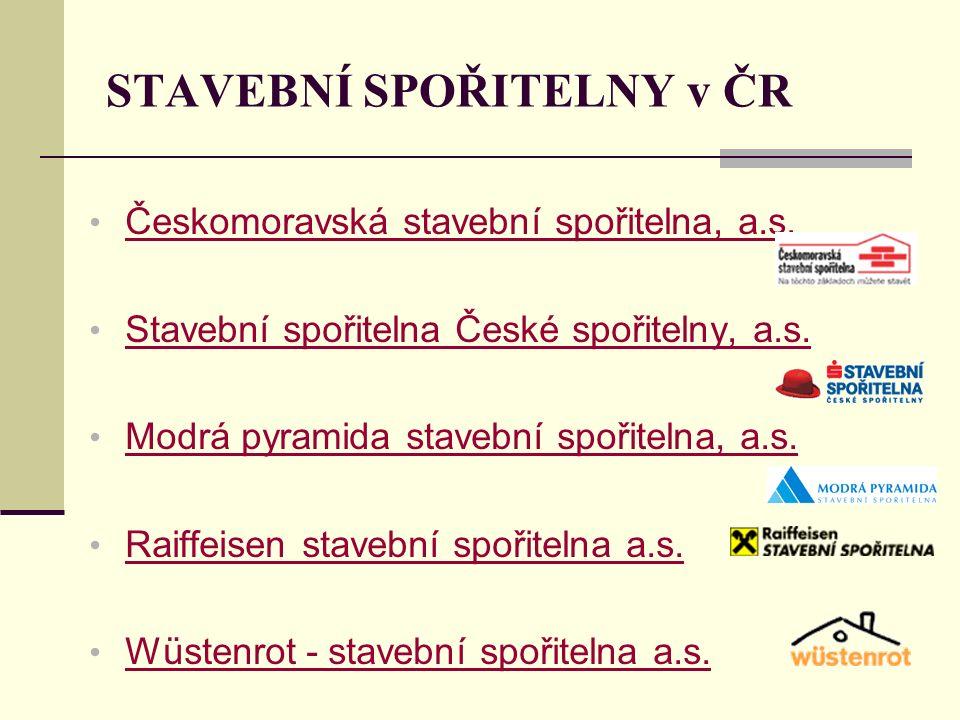 STAVEBNÍ SPOŘITELNY v ČR Českomoravská stavební spořitelna, a.s.