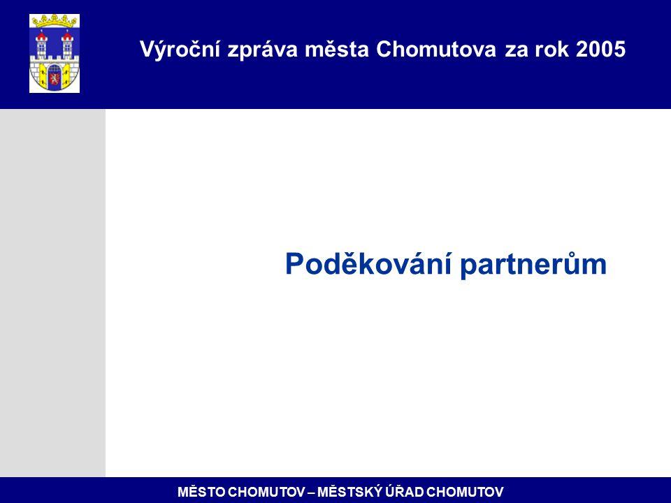 MĚSTO CHOMUTOV – MĚSTSKÝ ÚŘAD CHOMUTOV Poděkování partnerům Výroční zpráva města Chomutova za rok 2005