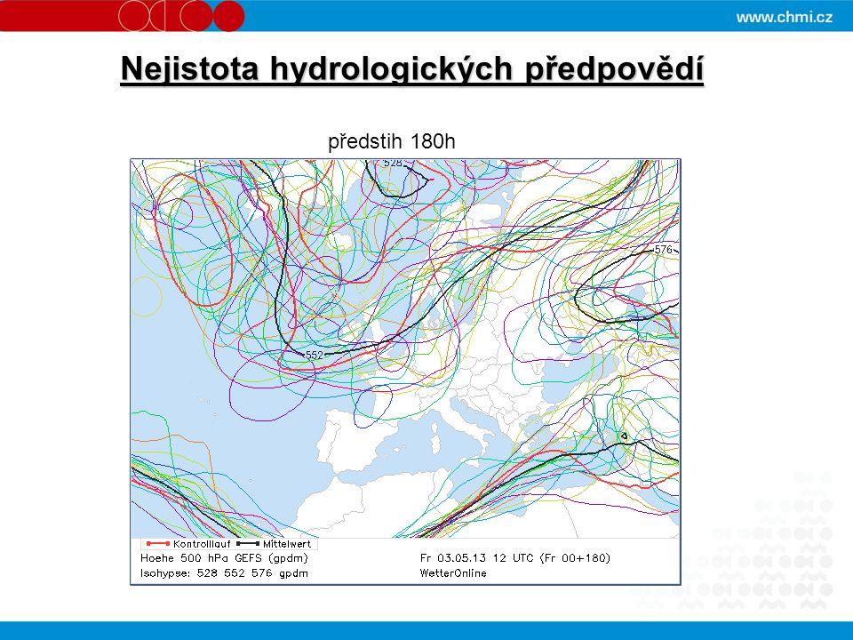 Nejistota hydrologických předpovědí předstih 180h