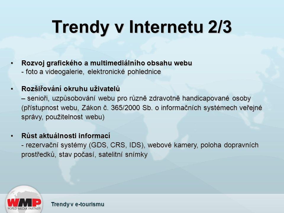 Trendy v Internetu 2/3 Rozvoj grafického a multimediálního obsahu webu - foto a videogalerie, elektronické pohledniceRozvoj grafického a multimediální