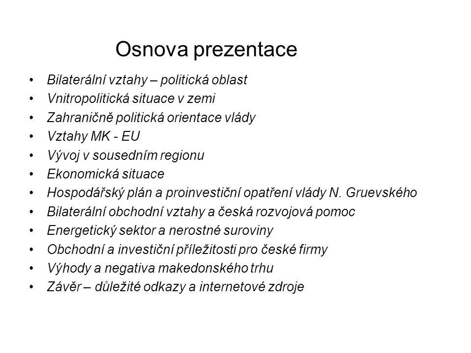 Česká rozvojová pomoc V rámci programu hospodářské obnovy a stabilizace zemí JV Evropy vláda ČR alokovala svým usnesením z roku 1999 částku 2,0 mld.