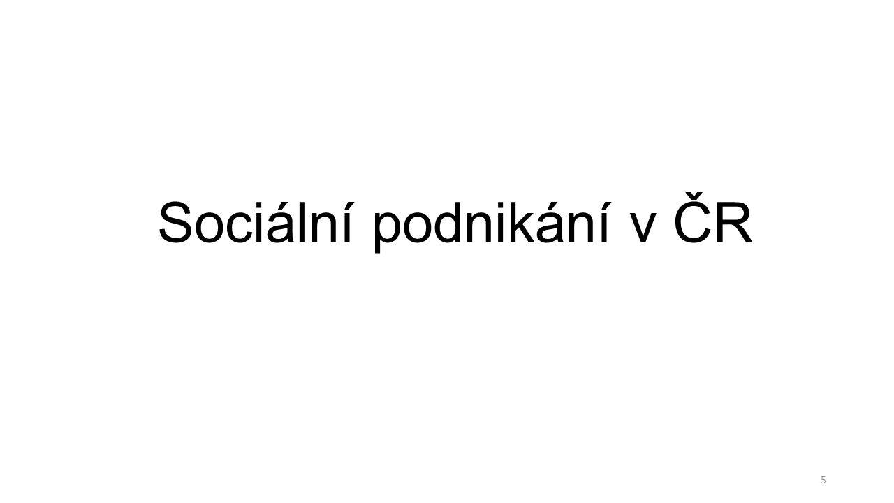 Sociální podnikání v ČR 5