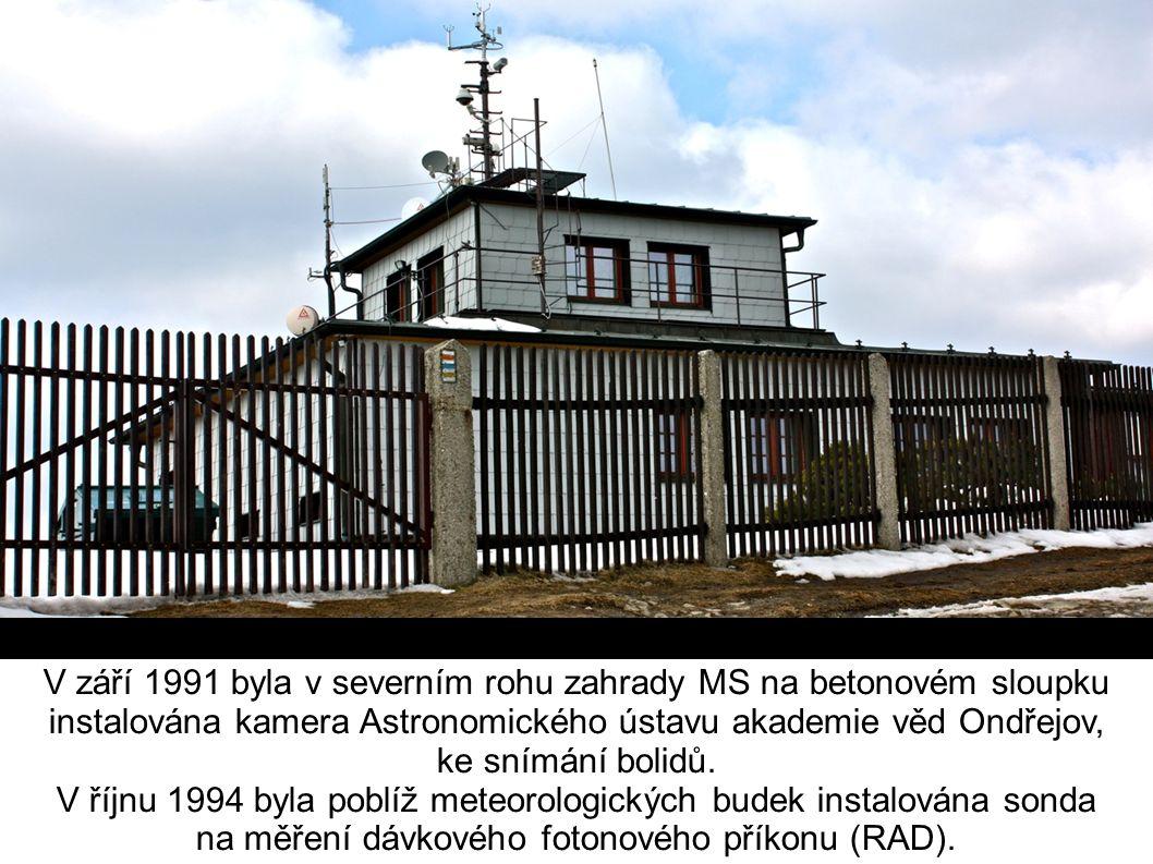 V září 1991 byla v severním rohu zahrady MS na betonovém sloupku instalována kamera Astronomického ústavu akademie věd Ondřejov, ke snímání bolidů.