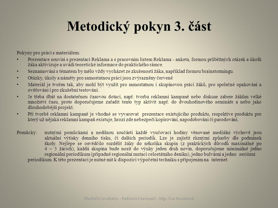 Metodický pokyn 3.