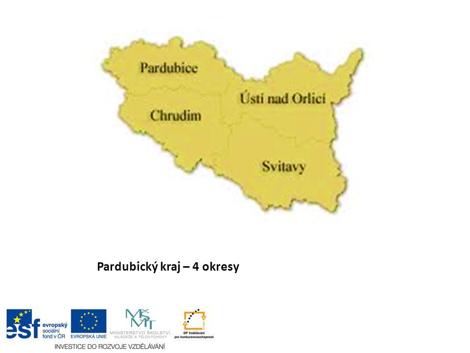 Pardubický kraj – 4 okresy