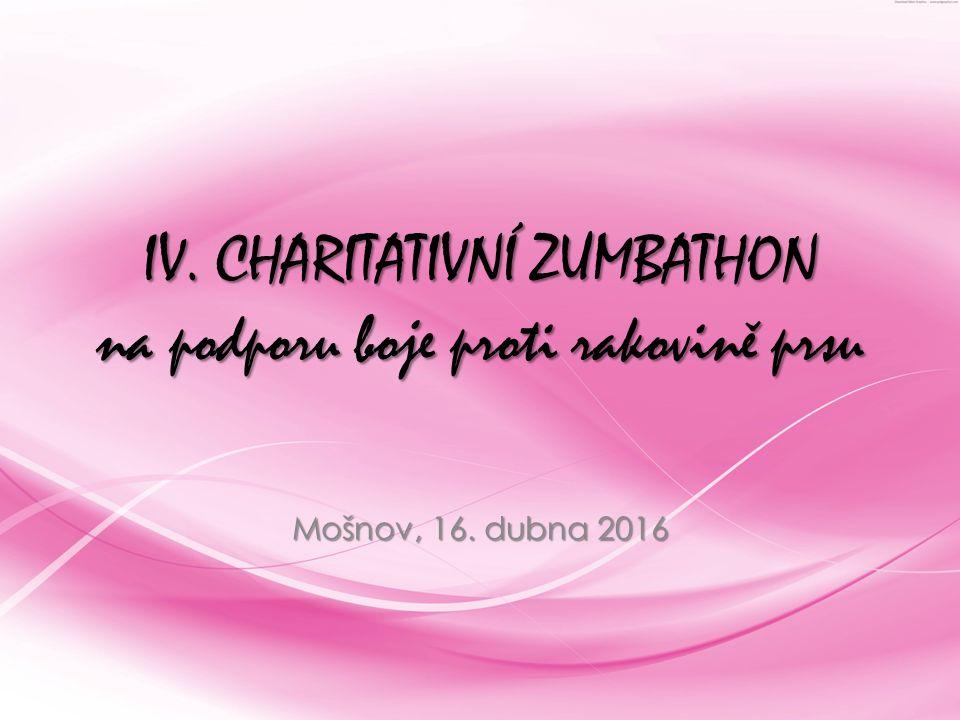 IV. CHARITATIVNÍ ZUMBATHON na podporu boje proti rakovině prsu Mošnov, 16. dubna 2016